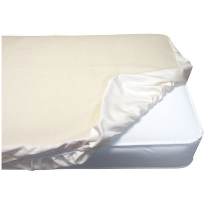 Naturepedic - Organic Cotton Flannel Fitted Crib Protector Pad