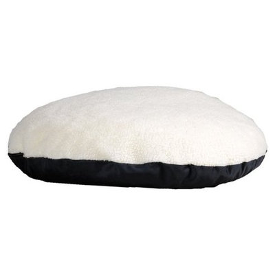 Midwest Pets Midwest Homes For Pets Quiet Time e'Sensuals Synthetic Sheepskin and Poly-Cotton Round Dog Bed