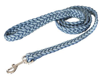Kiss My Mutt Two-Toned Braided Leash - Blue Skies