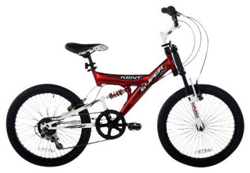 Kent Super 20 Boys Bike, Red/Black/White - 20