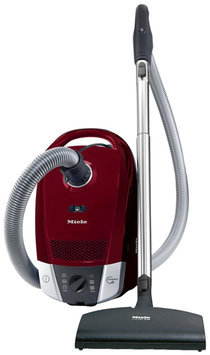 Miele S6270 Topaz Canister Vacuum Cleaner, Tayberry Red