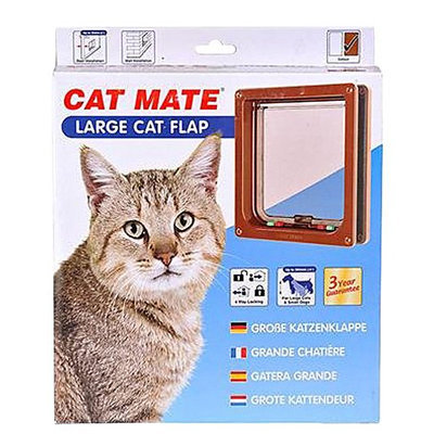 Cat Mate Inc #221 Locking Cat Door - Brown - Large