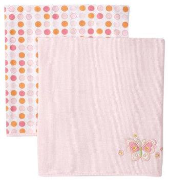 Spasilk 2 Pack Receiving Blankets (Baby) - Pink