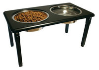 Ethical Pet Products Ethical Pet Posture Pro Adjustable Double Pet Diner in Black