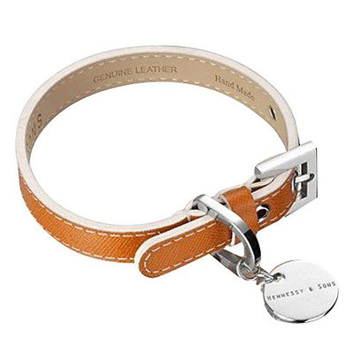 Hennessy & Sons Leather Dog Collar - Tan