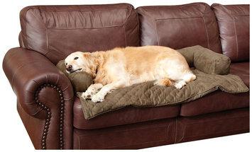 Solvit Bolstered Pet Bed Protector - Moss