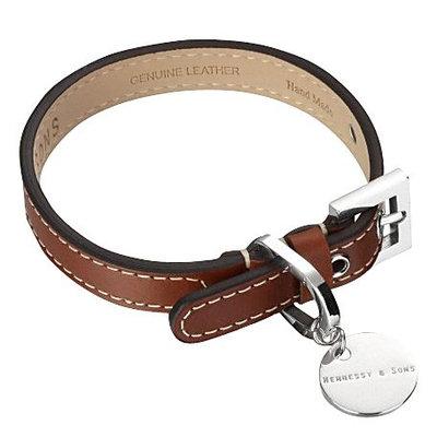 Hennessy & Sons Royal Handmade British Saddle Leather Dog Collar
