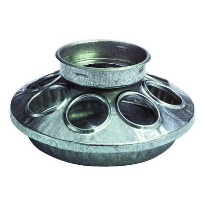 Miller Manufacturing Company Miller Manufacturing, Round Jar Galvanized Feeder Base for Birds