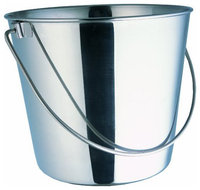 Indipets Heavy Duty Stainless Steel Dog Pail 13 QT