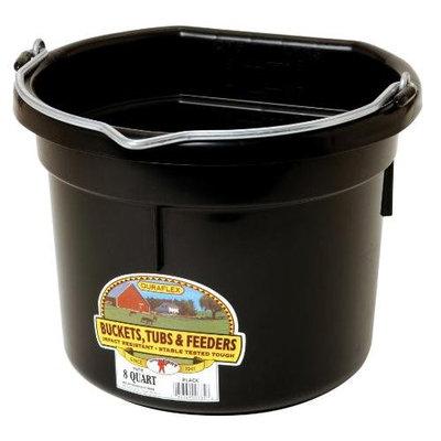 Miller Mfg Inc Miller Mfg Co Inc Flat Back Plastic Bucket- Black 8 Quart - P8FBBLACK