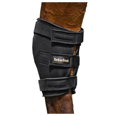 Magmar Colony Usa Inc Back on Track, 2-Piece Therapeutic Horse Hock Brace with Hole