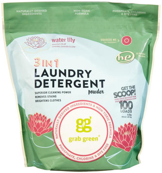 GrabGreen 3 - In - 1 Laundry Detergent Water Lily 100 Loads