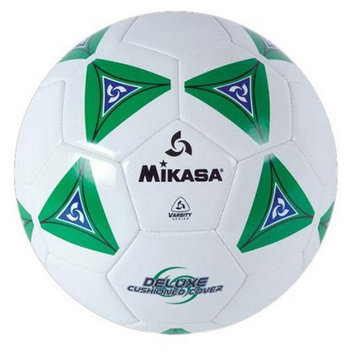 Mikasa Serious Soccer Ball, White/Green - Size 3