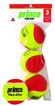 Prince Sports Prince Play & Stay Stage 3 Felt Red Tennis Balls