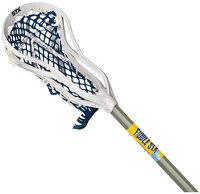 STX Fiddle STX Mini Super Power Lacrosse Stick with Plastic Handle & Ball, White/Blue - 36