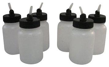 Badger Air-Brush Co. 51-0055B 3 oz. Plastic Jar with Adaptor, Box of 6