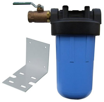 Watts Big Blue Non-Electric Whole House Water Filter W/Ball Valve