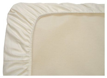 Naturepedic Organic Cotton Portable Crib Fitted Sheet, Ivory - 1 ct.