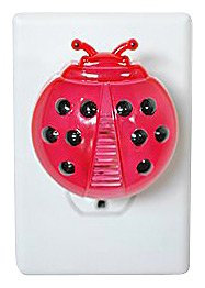 Exhart Wiser Living Ladybug Ultrasonic Pest Repeller W/LED Night Light