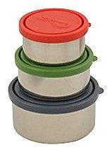 Kids Konserve KK099 Round Nesting Trio Containers - Ocean - 3 Pack