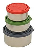 Kids Konserve KK099 Round Nesting Trio Containers - Ocean - 3 Pack