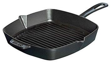 Staub Cast Iron American Square Grill Pan 12x12 in - Black