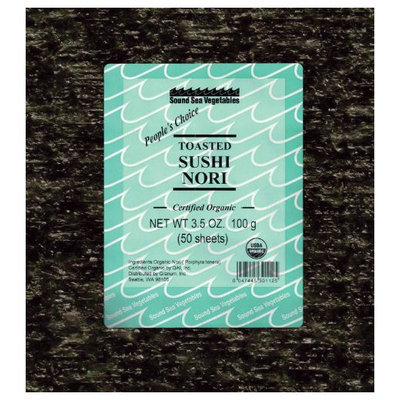Sound Sea Vegetables Organic Toasted Sushi Nori (Bulk), 50 Sheets, .