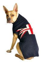 Chilly Dog Union Jack Dog Sweater - Large
