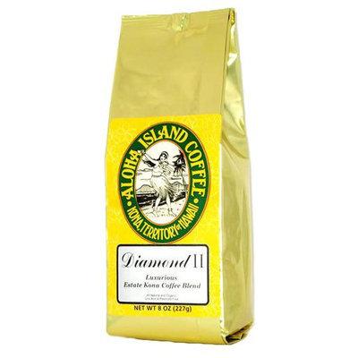 Aloha Island Coffee Company Organic Ground Coffee - Kona Blend Diamond - 8 oz