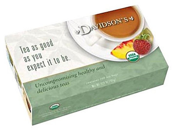Davidson's Tea Davidson Organic Tea 173 Red Vanilla Tea Box of 100 Tea Bags
