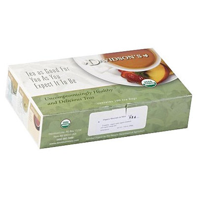 Davidson's Tea Davidson Organic Tea 160 Mezclado De Mate Tea Box of 100 Tea Bags