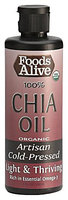 Foods Alive Organic Chia Seed Oil, 8oz