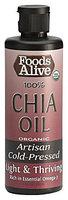 Foods Alive Organic Chia Seed Oil, 8oz