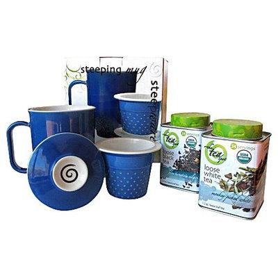 The Tea Spot The TeaSpot Handcrafted Ceramic Tea Mug with Organic Loose Leaf Teas Gift Set