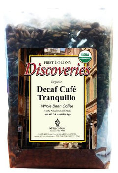 First Colony Organic Decaf Whole Bean Coffee - Caf Tranquillo - 24 oz