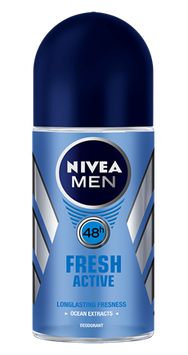 NIVEA for Men Fresh Active Roll-on Deodorant