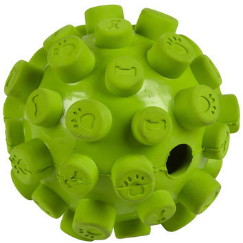 Four Paws Rough & Rugged Pill Ball with Bell
