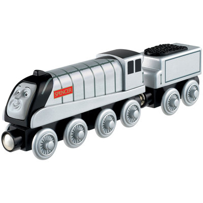Fisher Price Thomas and Friends Wooden Railway Engine- Spencer