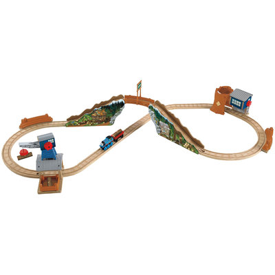 Fisher Price Thomas & Friends Wooden Railway Tidmouth Timber Company Deluxe Figure 8 Set