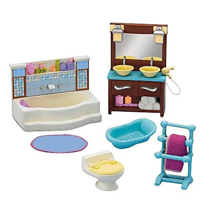 Fisher Price Loving Family Bathroom Decor Dollhouse Furniture - N7297