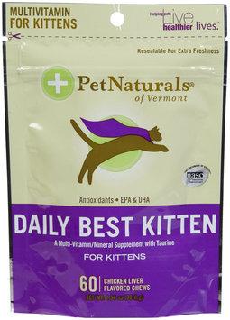 Pet Naturals of Vermont Daily Best Kitten Fun Shaped Chews - 60 count