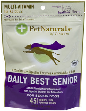 Pet Naturals of Vermont Daily Best Senior Bone Shaped Chew - 45 count