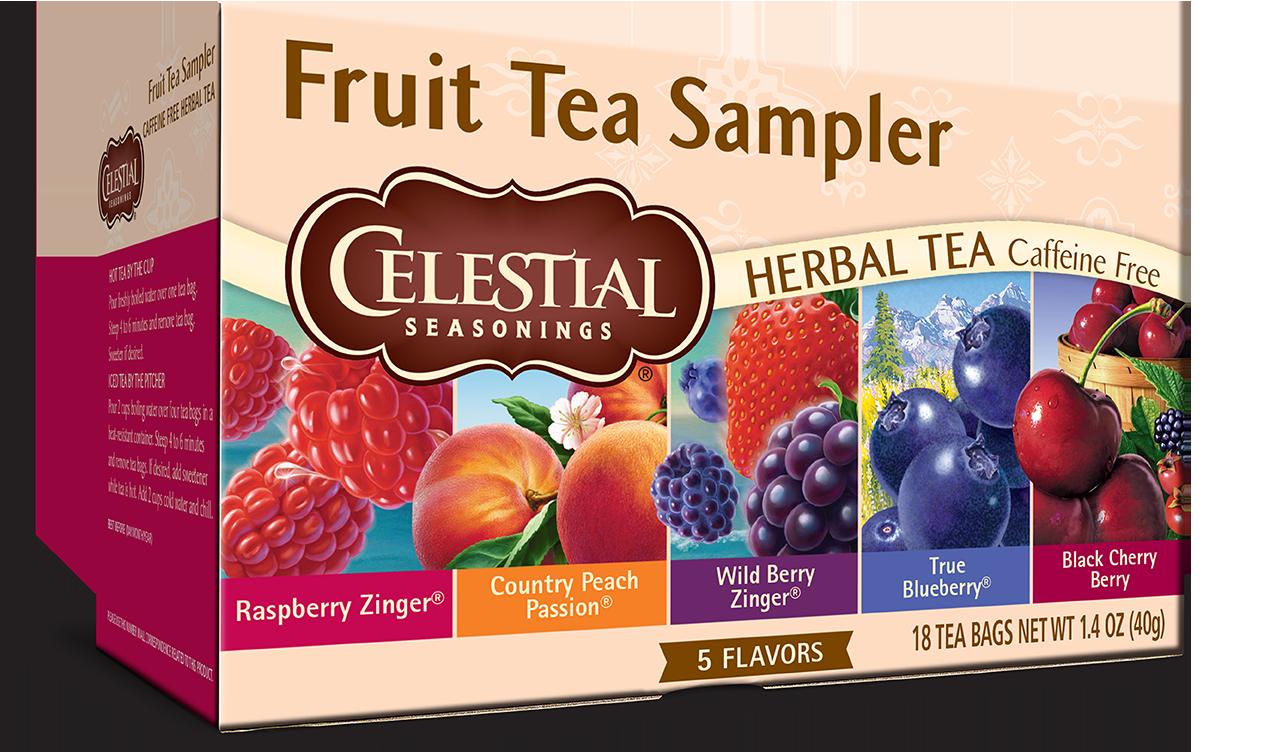 Celestial Seasonings Fruit Tea Sampler Herb Tea Caffeine Free