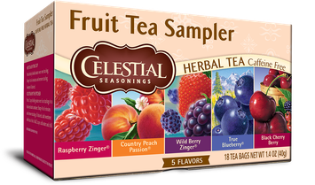 Celestial Seasonings Fruit Tea Sampler Herb Tea Caffeine Free