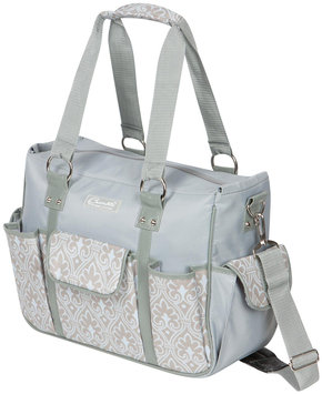 The Bumble Collection Kelly Commuter Diaper Bag - Blue Filigree
