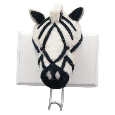 Fiona Walker England Fiona Walker Zebra Head Hook - 1 ct.