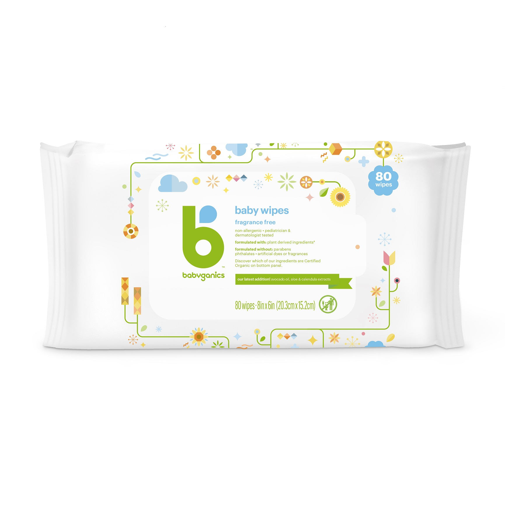 babyganics face, hand & baby wipes fragrance free
