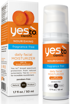 Yes To Carrots Fragrance Free Daily Facial Moisturizer SPF 15