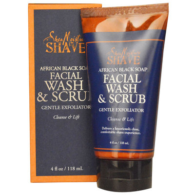 SheaMoisture African Black Soap Facial Wash and Scrub