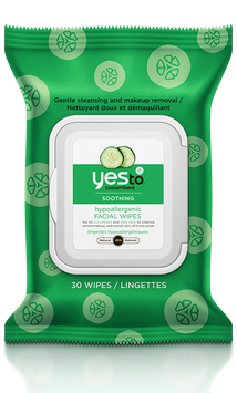 Yes To Cucumbers Shooting Hypoallergenic Facial Wipes